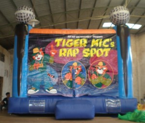 In TIGER MIC's SPOT you get the chance to rap on a mic that's in the bouncy, to the tracks and songs that are played in TIGER MIC's SPOT.